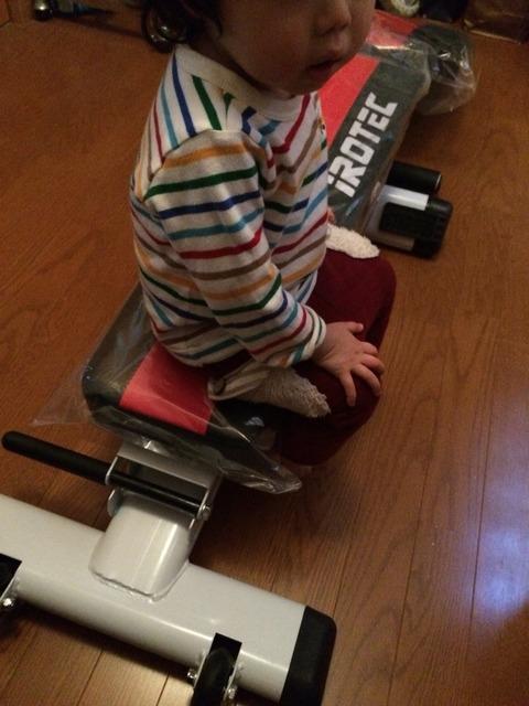 2歳児の重量にびくともしない耐久性!!